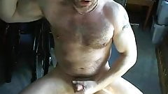 Sexy Daddy Bear Jerks Off & Shoots a Nice Load