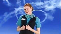 Karen Gillan as an Air Hostess