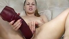 Hairy Milf Using Her Xmas Gift BVR