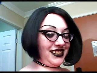 Goth bbw girl thumbs Beautiful big titted goth bbw rozzlynn gets a pounding