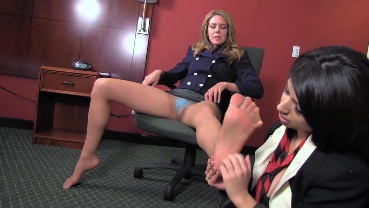 Office Lesbian Foot Worship