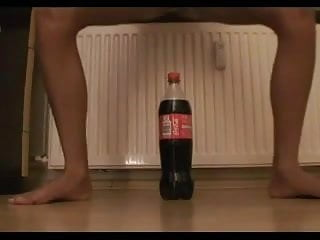 Man inserts coke bottle into ass - Tiny teen tries to ride a coke bottle