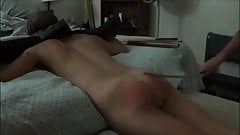 Restrained and spanked HARD!