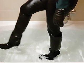 Dick versace springfield illinois Versace high heel leather boots soaking wet
