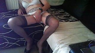 lingerie blanche en travestis