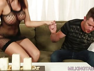 Big tits jennifer lamacchia Jennifer dark cock milking action under the tabl