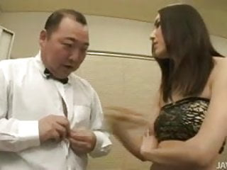 Hot naked gus Nozomi mashiro takes matters in hand as she bosses an old gu