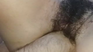 FISTING HAIRY PUSSY AND SHE MASTURBATED ME