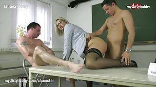 MyDirtyHobby -Threesome with hot college teacher Mrs Tatjana