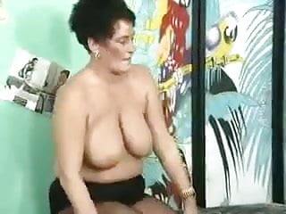 GERMAN GRANNY WITH BIG BOOBS FUCKED BY A LARGE COCK