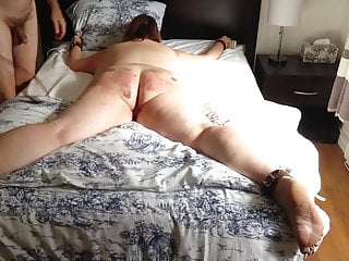 Son ties down naked mom - Tied down belted