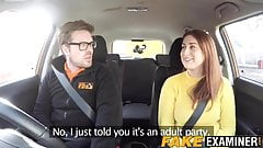 Bigtitted UK whore Paris Ryan drilled by driving instructor