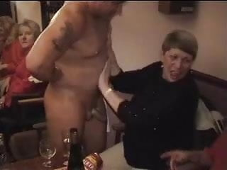 Busty oily giving a hand - Grandma giving a hand