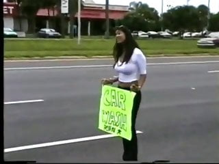 Ladies of porn in 2000 Randi storm at a pornstar charity carwash back in 2000