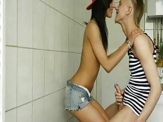 Restroom fuck - Horny classmates fuck in college restroom