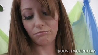 Nikki Rhodes Redhead and Freckles Hairy Pussy Fucked Facial