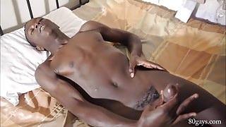 African Twink Brian Jacks Off