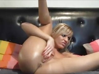 Building an awesome orgasm - Awesome masturbation girl drinking her own squirt