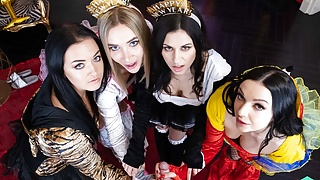 Czech VR 392 - Party of Six with Five Babes and You!
