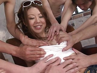 Men touching penis - Beautiful young babe gets touched by lots of men