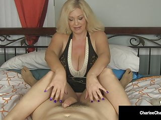 Ever jacked off your brother Jumping jerky cougar charlee chase jacks your dick off