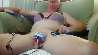 sissy crossdresser pervert ken e-stim cum