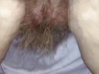Long hanging vaginal lip fetish - Her long pubic hair hanging from her rear.