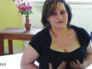 Busty old mature 04 - Busty old mother dreaming of young cock