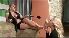 mature mistress use young lesbian feet slave