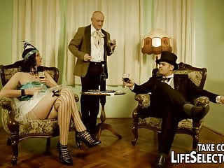 Mature ladies spanking Lady and maid get punished and fucked by two gentleman.