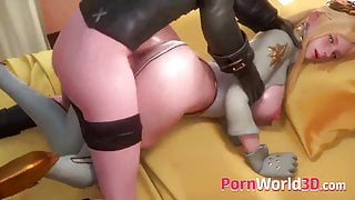NieR Automata Animated Babes Gets Nice Pounding Behind