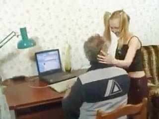 Hardcore sex with granddad on vacation Botr daughter loves her sunday fuck with granddad