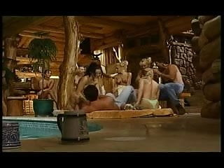 Sex in the sauna Orgy at the sauna