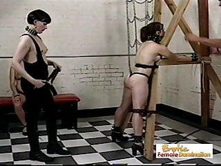 Lingerie bondage scenes Behind the scenes footage of severe punishment