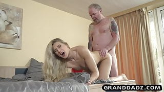 Horny Step daughter fucks her daddy in the dormitory