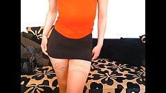 cam girl in stockings & no panties