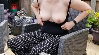 Mom flashes her tits to her step son no touching