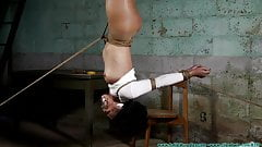 Captive Hung By Her Ankles Clamped And Whipped Part 2