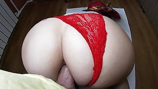 Anal sex in the tight ass of a mature milf