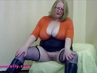 Sexy women wearing boots British big tits granny wearing boots and fishnets no pants