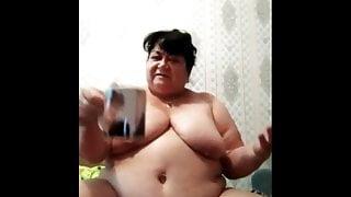 my old fat Elena takes urine