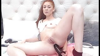 Redhead slut loves to fuck her ass