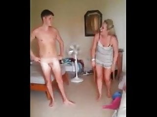 Guy with small cock Cfnm guy with small penis filmed by two girls