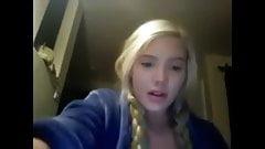 Blond german girl have webcam fun