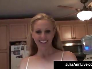 Famous milf porn star - World famous milf julia ann gets a load of cum on her face