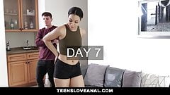 TeensLoveAnal - Gorgeous Latin Babe Slurps Up A Big One