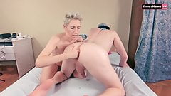 Femdom prostate orgasm - She really loves his hole!