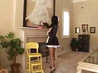 Do pornstar get std Dirty latin maid doing the housework