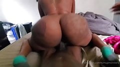Fucking her from the back while she squirted on the camera