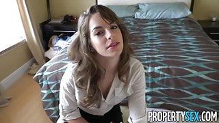 PropertySex - Insanely hot realtor fucks client in condo